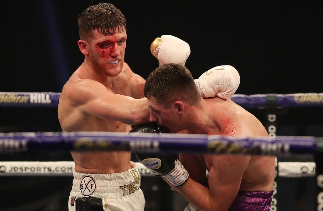 Docherty suffered a nasty cut Photo Credit: Mark Robinson/Matchroom Boxing