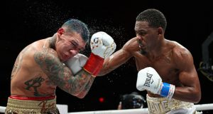 Daniel Jacobs took a split decision win over rival Gabriel Rosado in Florida on Friday night Photo Credit: Ed Mulholland/Matchroom Boxing