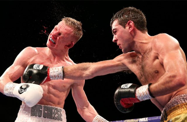 Sergio Garcia defeated Ted Cheeseman in a defence of his EBU title. Photo Credit: The Sun