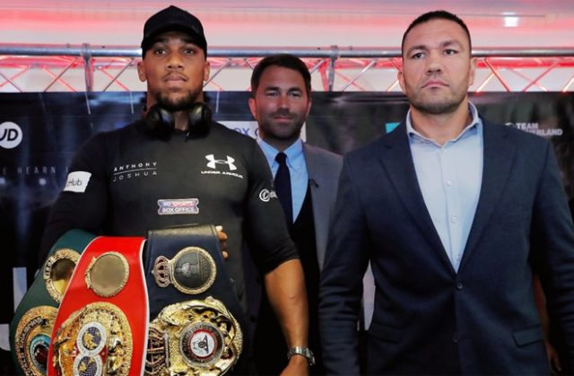 Anthony Joshua defends his unified heavyweight world titles against Kubrat Pulev on December 12 in London Photo Credit: Reuters