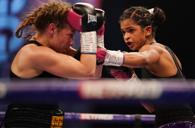 Ramla Ali was successful on debut Photo Credit: Dave Thompson/Matchroom Boxing