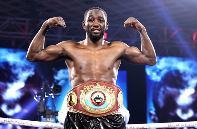 Terence Crawford successfully defended his WBO Welterweight crown with a fourth round stoppage over Kell Brook Photo Credit: Mikey Williams/Top Rank via Getty Images