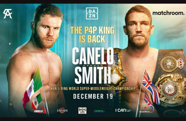 Canelo Alvarez will face WBA 'Super' Super Middleweight world champion Callum Smith on December 19 in Texas