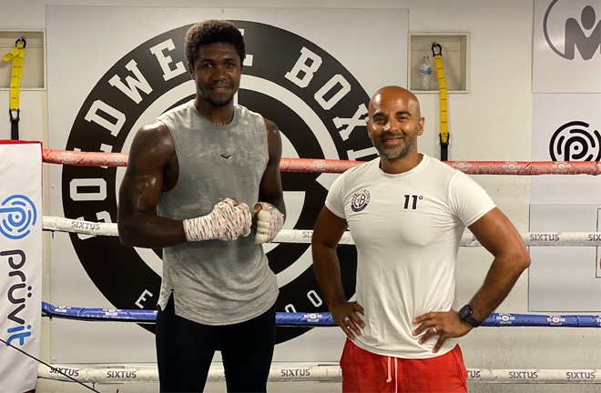 Lerrone Richards teamed up with coach Dave Coldwell in June