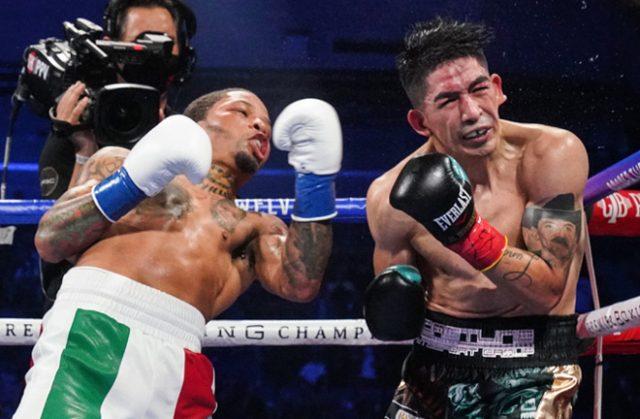 Gervonta Davis produced a showreel knockout over Leo Santa Cruz in Texas on Saturday Photo Credit: Sean Michael Ham/Mayweather Promotions