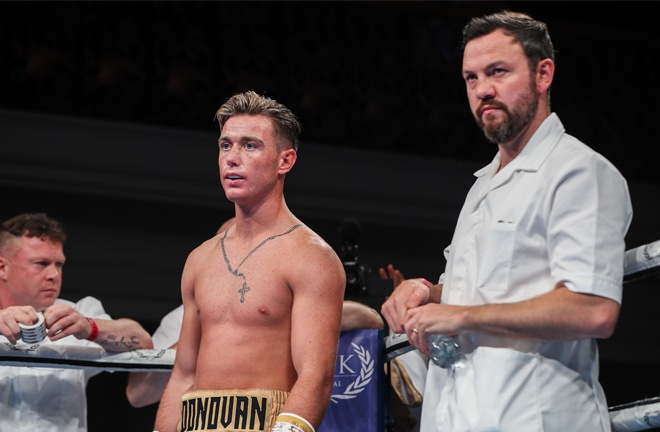 Paddy Donovan fights for the fifth time as a professional and is trained by Andy Lee Photo Credit: MTK Global