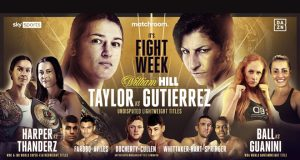 Katie Taylor puts all her Lightweight titles on the line against Miriam Gutierrez at The SSE Arena on Saturday