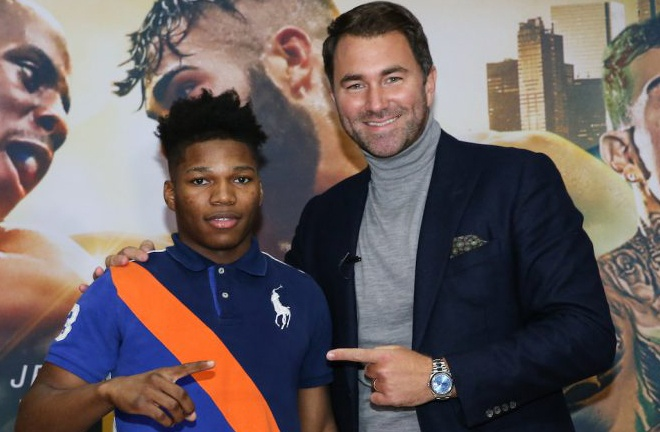 Ford inked a promotional deal with Eddie Hearn and Matchroom Boxing USA after exchanging Instagram messages Photo Credit: Ed Mulholland/Matchroom Boxing USA