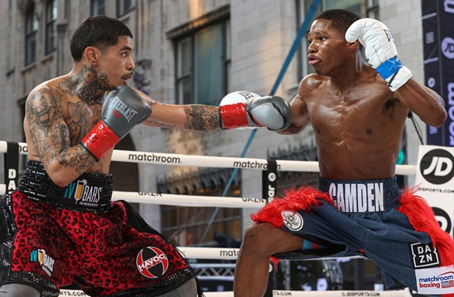 Ford secured his sixth win over Eric Manriquez in Tulsa in August Photo Credit: Ed Mulholland/Matchroom Boxing USA