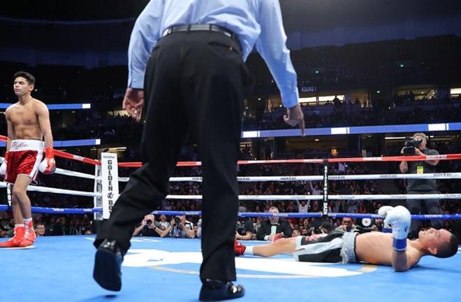 Ryan Garcia stopped Francisco Fonseca in a round in February Photo Credit: Tom Hogan-Hoganphotos/Golden Boy
