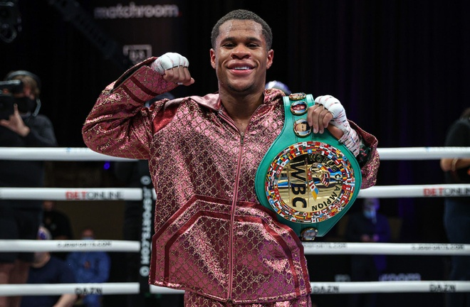 WBC Lightweight World Champion Devin Haney became a Matchroom Boxing USA star on DAZN Photo Credit: Ed Mulholland / Matchroom Boxing