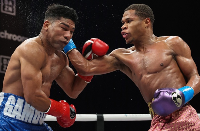 Haney dominated Gamboa on route to a unanimous decision win in Florida Photo Credit: Melina Pizano/Matchroom Boxing
