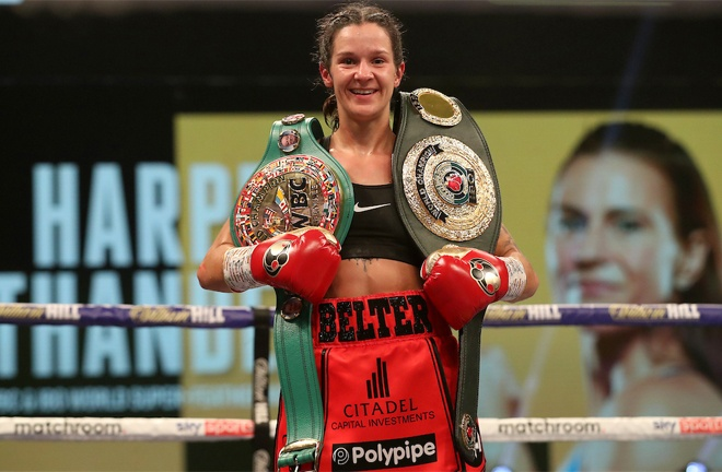 Harper made a successful defence of her WBC and IBO Super Featherweight titles Photo Credit: Mark Robinson/Matchroom Boxing