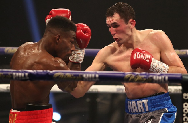 Thomas Whittaker-Hart moved to five unbeaten with a gutsy win over Jermaine Springer Photo Credit: Mark Robinson/Matchroom Boxing