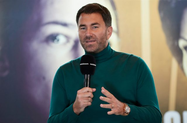 Eddie Hearn has called on the government to reconsider its bailout after ruling out boxing Photo credit: Mark Robinson / Matchroom Boxing