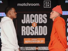 Daniel Jacobs settles his grudge with Gabriel Rosado in Florida on Friday night Photo Credit: Ed Mulholland/Matchroom Boxing