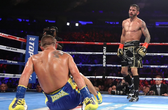 Linares dropped Lomachenko before falling to a tenth round stoppage defeat in 2018 Photo Credit: Mikey Williams/Top Rank