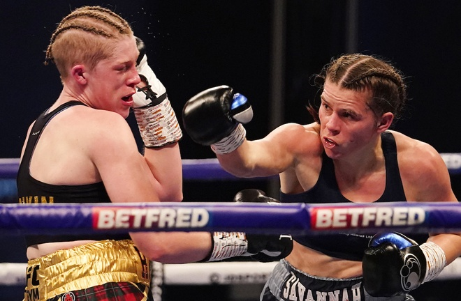 Savannah Marshall proved too much for Hannah Rankin Photo Credit: Dave Thompson/Matchroom Boxing