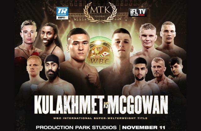 Tursynbay Kulakhmet meets Macaulay McGowan on the latest MTK Fight Night in Wakefield on Wednesday