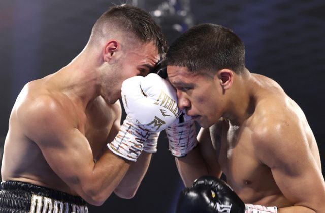 A video replay determined a no contest after a wait of over 25 minutes Photo Credit: Please credit Mikey Williams/Top Rank via Getty Images