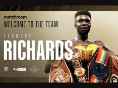 Lerrone Richards has signed a promotional deal with Matchroom Boxing after leaving Queensberry Promotions