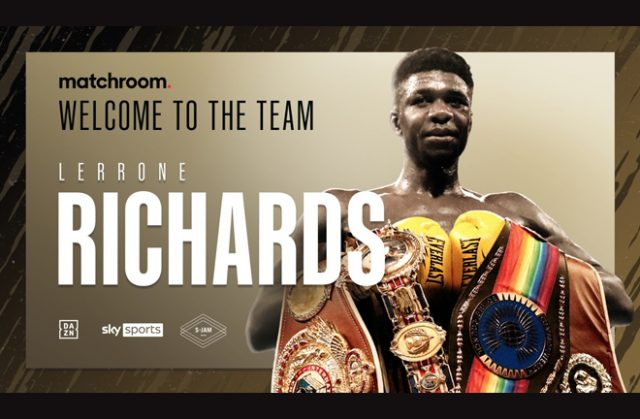 Lerrone Richards signed promotional deal with Matchroom Boxing after leaving Queensberry Promotions