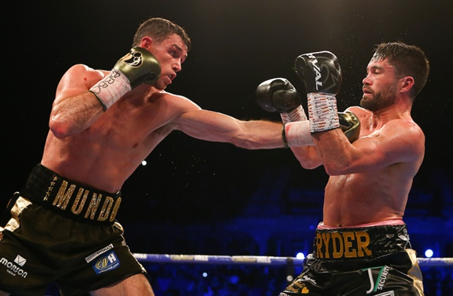 Smith defended his world titles against John Ryder last November Photo Credit: Mark Robinson/Matchroom Boxing