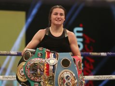 Katie Taylor defended her undisputed lightweight crown with a dominant unanimous decision win over Miriam Gutierrez on Saturday Photo Credit: Mark Robinson/Matchroom Boxing
