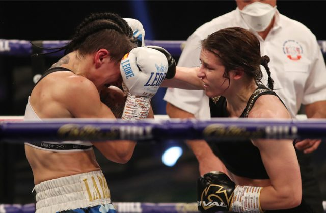 Taylor outclassed her mandatory challenger Photo Credit: Mark Robinson/Matchroom Boxing
