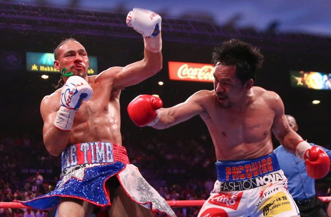 Thurman more than held his own against Pacquiao in a narrow loss Photo Credit: Wendell Alinea/Team Pacquiao