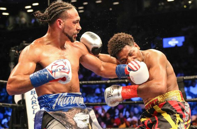 Keith Thurman beat Shawn Porter in 2016 Photo Credit: Ryan Greene/Premier Boxing Champions
