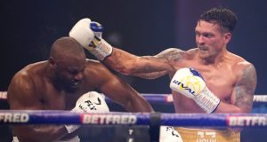Oleksandr Usyk battled past Derek Chisora in London on Saturday Photo Credit: Dave Thompson/Matchroom Boxing