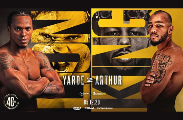 Anthony Yarde meets Lyndon Arthur for the Commonwealth light heavyweight title on December 5