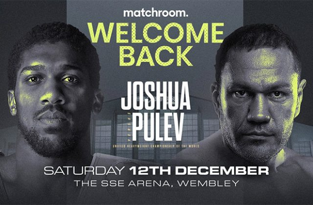 1000 fans will be in attendance for Joshua's clash with Pulev