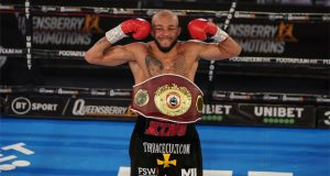 Arthur added the vacant WBO Inter-Continental title to his Commonwealth Crown Photo Credit: Round 'N' Bout Media/Queensberry Promotions