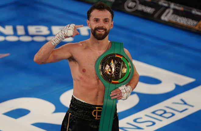 Chris Bourke claimed the WBC International Super Bantamweight title with a second round win over Michael Ramabeletsa Photo Credit: Round 'N' Bout Media/Queensberry Promotions
