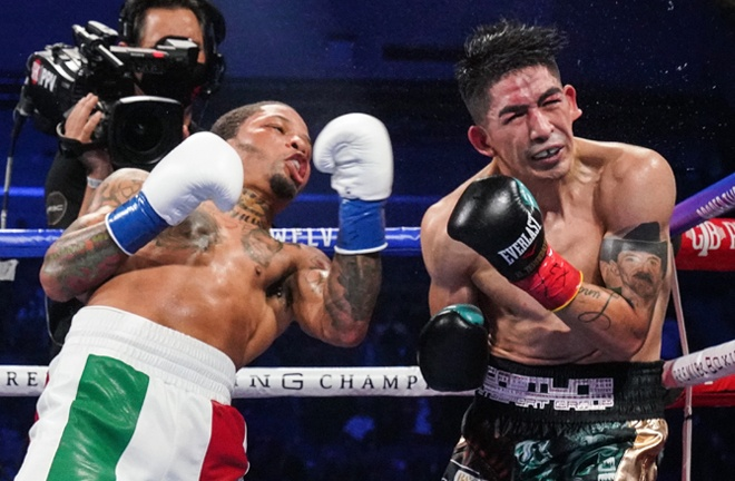 Gervonta Davis viciously knocked out Leo Santa Cruz in October to reclaim the WBA Super Featherweight crown Photo Credit: Sean Michael Ham/Mayweather Promotions