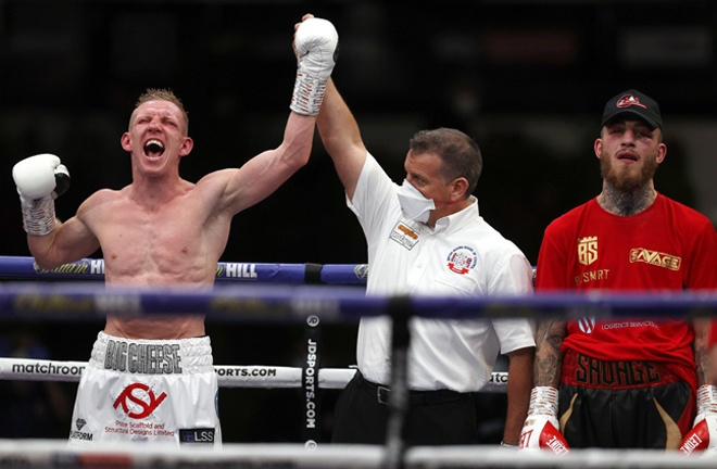 Ted Cheeseman beat Sam Eggington after an epic fight at Matchroom HQ in August Photo Credit: Mark Robinson/Matchroom Boxing