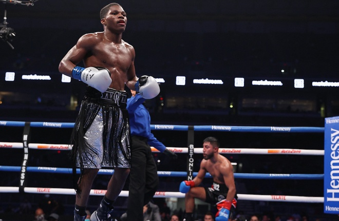 Raymond Ford brought up another stoppage win to remain undefeated Photo Credit: Ed Mulholland/Matchroom Boxing