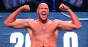 Tyson Fury could be ringside on Saturday Photo Credit: Mikey Williams/Top Rank