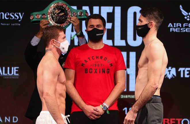Golovkin says he is open to facing the victor of Saturday's unification between Canelo Alvarez and Callum Smith Photo Credit: Ed Mulholland/Matchroom Boxing
