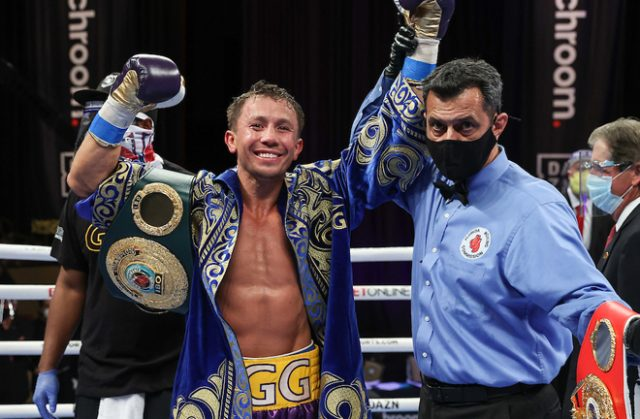 Gennady Golovkin saw off Kamil Szeremeta to make a record breaking 21st Middleweight title defence in Florida Photo Credit: Melina Pizano/Matchroom Boxing