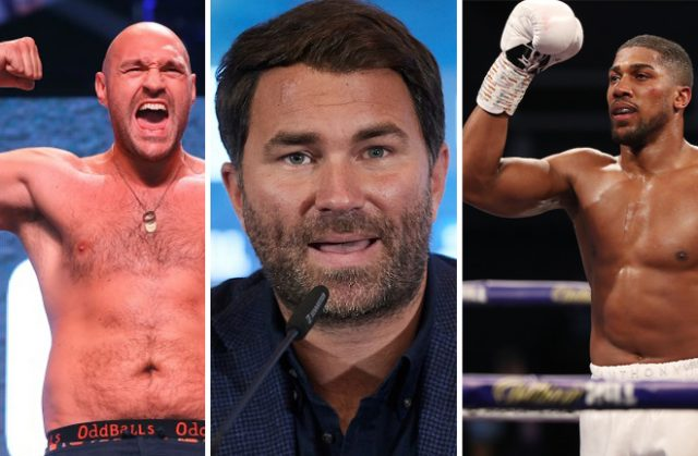 Eddie Hearn is confident Anthony Joshua and Tyson Fury will meet in 2021 Photo Credit: Mikey Williams/Top Rank/Mark Robinson/Matchroom Boxing