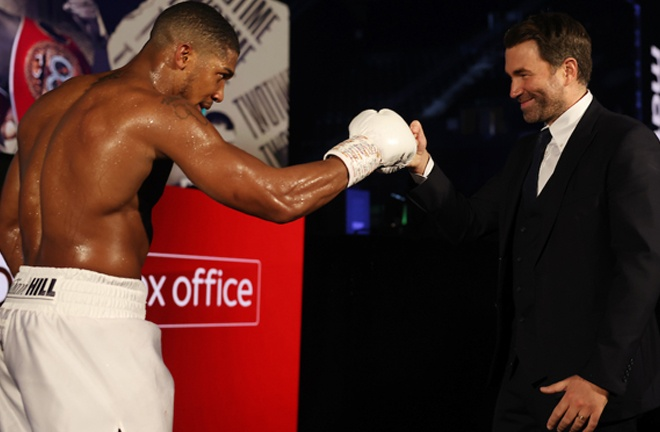 Promoter Eddie Hearn says he will look to make a clash between Joshua and Tyson Fury in 2021 Photo Credit: Mark Robinson/Matchroom Boxing