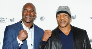 Evander Holyfield has called out former rival Mike Tyson for a trilogy Photo Credit: AP Photo