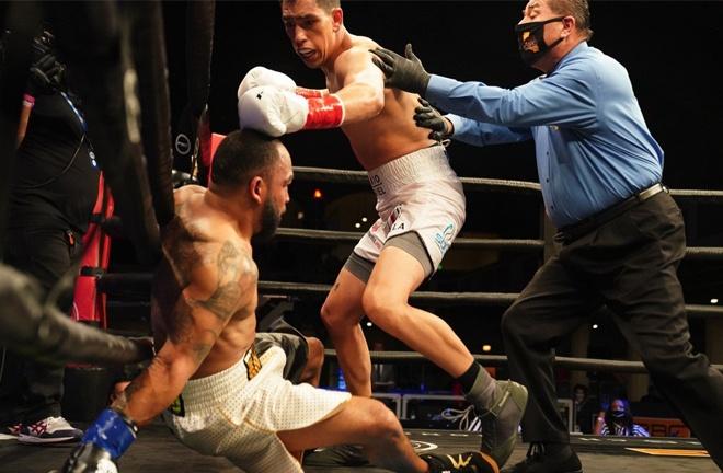 James Kirkland was blown away inside a round by Juan Macias Montiel Photo Credit: Sean M Ham/TGB Promotions