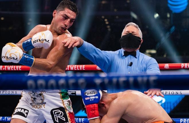 Former world title challenger Josesito Lopez knocked out Francisco Santana Photo Credit: Ryan Hafey/Premier Boxing Champions