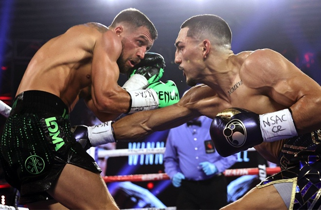 Lopez beat Lomachenko in a gripping Lightweight unification in October Photo Credit: Mikey Williams/Top Rank