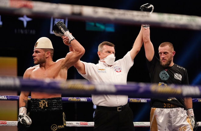 Florian Marku was left incensed after being held to a draw against Jamie Stewart Photo Credit: Dave Thompson/Matchroom Boxing