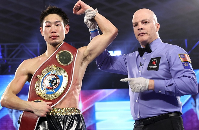 Nakatani claimed the vacant WBO Inter-Continental Lightweight title with victory over Verdejo Photo Credit: Mikey Williams/Top Rank via Getty Images